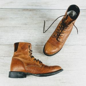 Ariat Roper Leather Lace Up Boots 9.5D